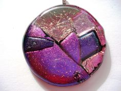 pendant of dichroic glass