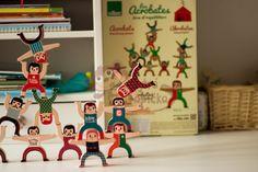 Dřevěná motorická hra - Vilac - Akrobati   ChytráOpička.cz Advent Calendar, Holiday Decor, Home Decor, Decoration Home, Room Decor, Advent Calenders, Home Interior Design, Home Decoration, Interior Design