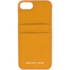 Michael Michael Kors iphone 7 case with card slots ($53) ❤ liked on Polyvore featuring accessories, tech accessories, yellow and michael michael kors