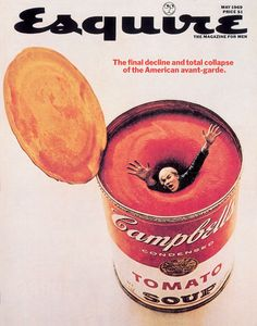 Andy Warhol Drowning in a can of soup, May 1969