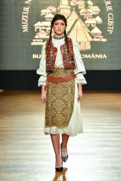 "ro ""Romanian Fashion Philosophy is an exclusive, international fashion event with designers from all over the world. This is the place where style, beauty, designers, re… International Fashion, Philosophy, Sari, Traditional, Costumes, Romania, Folk, Designers, Beauty"