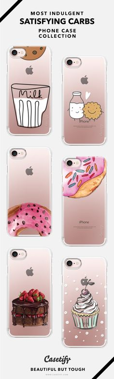 Sweet Tooth Craving! Most Satisfying Carbs Phone Case Collection - iPhone 6/6s/7/7+ AND MORE! Shop them here ☝️☝️☝️ BEAUTIFUL BUT TOUGH ✨  - Workout, Satisfy, Sweet, Dessert, Cakes, Donuts, Best Friends, Diet,