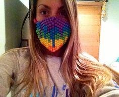 Melting Rainbow Kandi Rave Mask on Wanelo