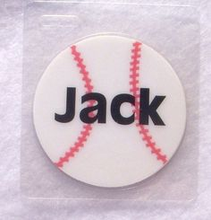 Perfect for your little slugger!   Baseball name tag personalized bag tag / id tag by Toddletags, $5.95