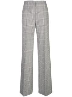 Narciso Rodriguez Plaid Print Trousers In Grey Printed Trousers, Narciso Rodriguez, Wool Blend, Pajama Pants, Plaid, Silk, Grey, Shopping, Clothes