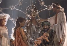 Malcolm McDowell, Helen Mirren, Teresa Ann Savoy, and Leopoldo Trieste in Caligola