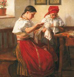 European Countries, Czech Republic, Folklore, Prague, Fine Art, Gallery, Painting, Etchings, Ethnic Dress