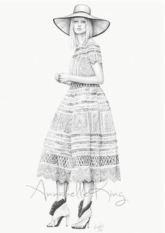 Fashion illustration of a look from Zimmermann Resort 2015 // Annabelle King