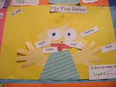 5 senses portrait idea {Peace, Love and Kindergarten}