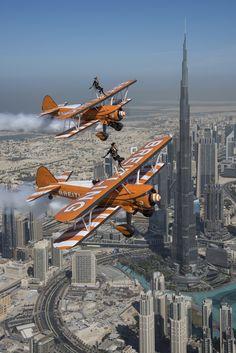 The Breitling Wingwalkers soar above Dubai