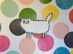 White kitty brooch by NeonHorseDesign on Etsy