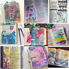 Here is my first #followfriday  This Illustrated Faith community is a great one. Sharing pages and words of encouragement from out Father is a great thing to be apart of. Check out these lovely ladies! Aren't their pages beautiful!? The waves. The flowers. The colors. The Word! Love it all  #illustratedfaith #biblejournalingcommunity by lynzeebrooke