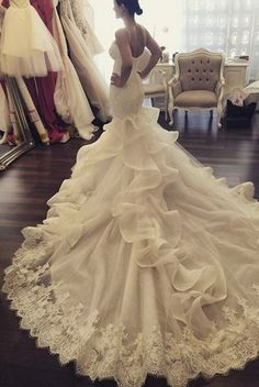 Glamorous George Elsissa wedding dress