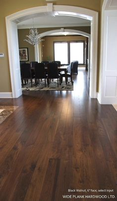 I'm in love with Walnut flooring.  I find myself drawn to it above any other wood.  Can't wait to start the remodel process this spring!