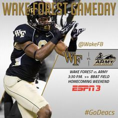 Wake Forest Football - Gameday Graphic on Twitter