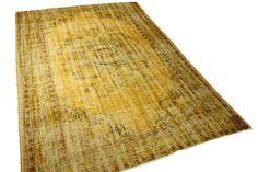 Vintage vloerkleed, okergeel 277cm x 186cm | Rozenkelim.nl - Groot assortiment kelim tapijten