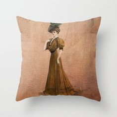 Woman in yellow dress Edwardian Era in Fashion