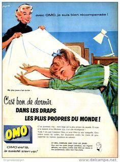 Original-Anzeige / Publicité 1957 - (en français) OMO -  ca. 240 x 320 mm