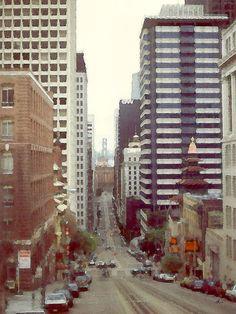 'San Francisco Downtown 89' von Dirk h. Wendt bei artflakes.com als Poster oder Kunstdruck $18.03