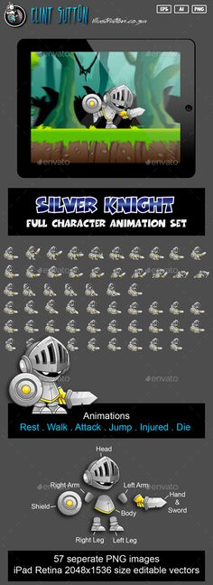 Knight Game Character Set Download here: https://graphicriver.net/item/knight-game-character-set/15499662?ref=KlitVogli