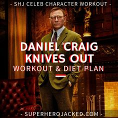Daniel Craig Workout Routine and Diet: How to train like James Bond – Superhero Jacked Dip Workout, Push Up Workout, Workout Diet Plan, Workout Routine For Men, Gym Workouts, Workout Men, Muscle Fitness, Fitness Diet, Gain Muscle