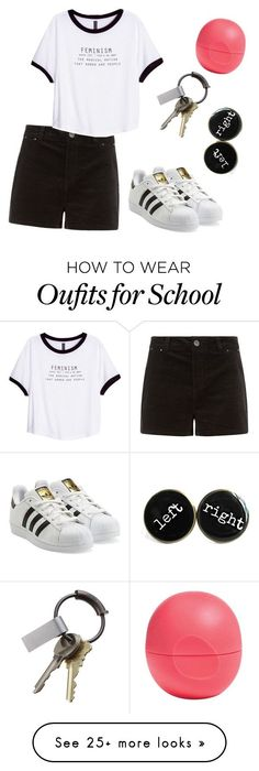 """""""school"""" by lakatys on Polyvore featuring H&M, adidas Originals, Eos and CB2"""