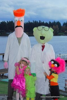 Handmade muppets family costumes