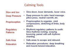 Calming tools for Sensory