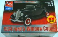 AMT/ERTL 1934 FORD 5-WINDOW COUPE MODEL CAR KIT