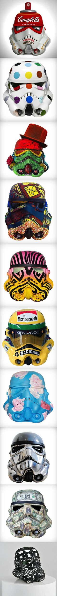 Art Wars: Famous Artists Remix the Famous Star Wars Storm Trooper Helmet (Coming to the London Underground) Read more at http://www.visualnews.com/2013/10/15/art-wars-famous-artists-remix-famous-star-wars-storm-trooper-helmet/#lP2TkzEjE3vZ9SI5.99