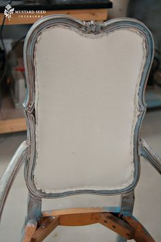 Best of MMS – French Chair Makeover & Tutorial-tutorial I need for upholstering backs of CL dining room chairs