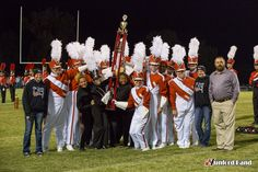 Munford Band is this year's grand champions, receiving the Mayor's Cup, at the 2015 Gibson County Invitational.