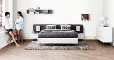 Dream of the perfect bedroom where you can recharge your batteries after a hard day at work? Of course you need the perfect mattress, but you also need plenty of storage to keep it all organized so you can relax in ideal surroundings. And remember everything you see can be customized to fit you.