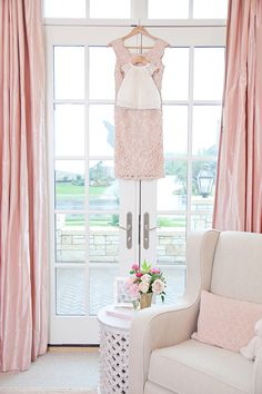 Hang the girls' blessing dresses in their rooms. Beautiful wall decor