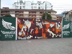 "Gernikan dagoen graffitti bat: ""Guernica"" 1937 Gernikera 2015 #Guernica #Gernika #simbolo"