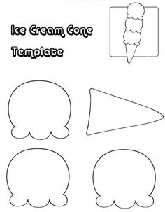 Ice Cram Cone Template ....could be used for a cute applique