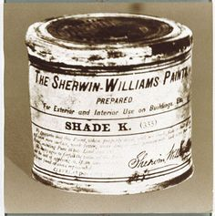 Sherwin-Williams very first paint can House Painter, North And South America, Paint Cans, Coffee Cans, Paint Colors, Faces, Gift Wrapping, Antiques, Painting