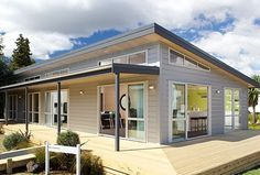 Home Building, Wooden Floor & Timber Frame House Plans New Zealand - House Plans, Home Plan Designs, Floor Plans and Blueprints House Roof, Facade House, My House, Nutec Houses, Roof Design, House Design, A Frame House, Timber Frame Homes, Prefab Homes