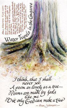 Trees sketchbook page