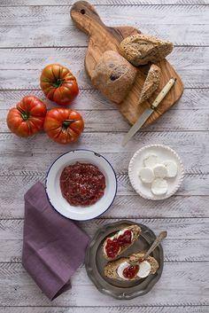 Mermelada de tomate - No quieres caldo? ... Pues toma 2 tazas.