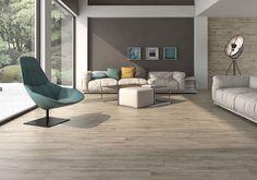 How Cutting Installed Tiles? Grey Laminate Flooring, Grey Wood Floors, Kitchen Flooring, Wood Plank Tile, Wood Planks, Kitchen Post, Living Room Inspiration, Interiores Design, Floor Chair