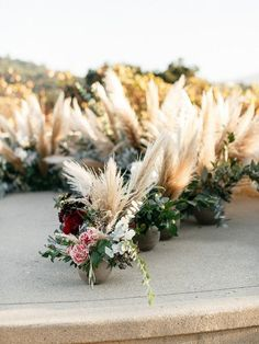 Pampas grass florals...perfect for a beautiful ceremony!!