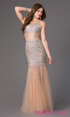 Prom Dresses, Celebrity Dresses, Sexy Evening Gowns: Floor Length Sequin Embellished Prom Dress