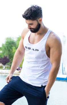 -Shorts REAP Navy /  -Pantaloni scurti REAP Bleumarin Jogging, Tank Man, Navy Blue, Shorts, Tank Tops, Boys, Fit, Fashion, Walking