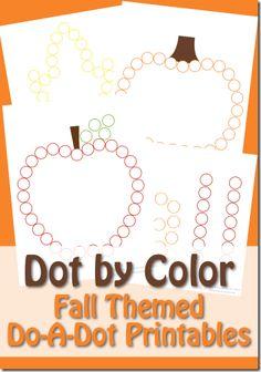Free Fall Dot Marker Worksheets for Kids #preschool #fall