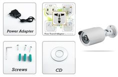 720p IP Surveillance Camera - 1/3 Inch CMOS, 20 Meter Night Vision, Motion Detection, Smartphone Support + Weatherproof