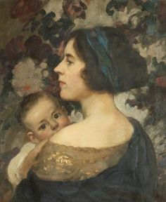 """""""My wife and Michael,"""" 1922 -- by Frank Thomas Copnall"""