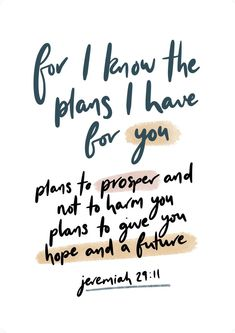 Bible verses for strength - For I know the plans I have for you.