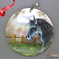 JEWELRY NECKLACE HAND PAINTED HORSE SHELL PENDANT ZL3005188 #ZL #Pendant
