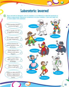Dieci e lode 5 Carnival Dress, Diy Carnival, Carnival Rides, Carnival Masks, Carnival Costumes, Italian Grammar, Italian Words, Italian Language, Home Schooling
